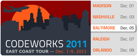 CodeWorks '11 - Baltimore