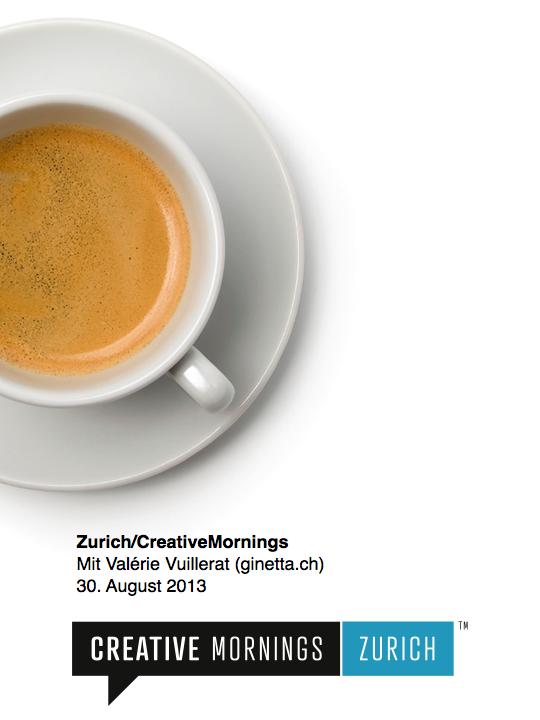 Zurich/CreativeMornings mit Valérie Vuillerat (ginetta.ch)