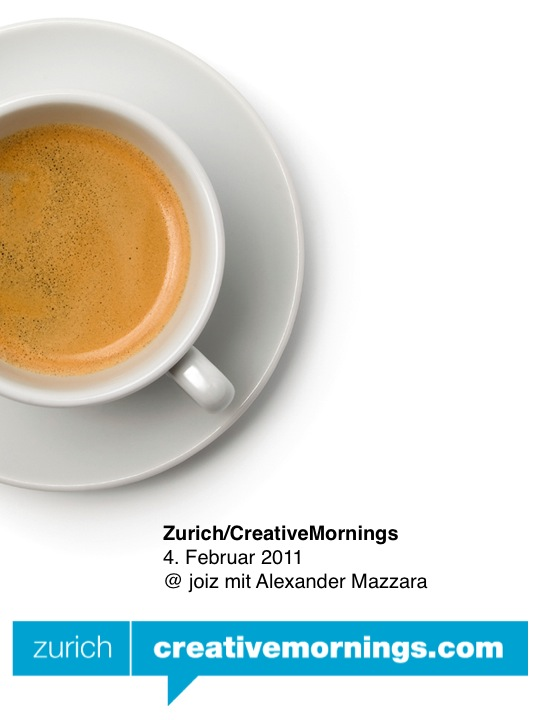 Zurich/CreativeMornings mit Alexander Mazzara - joiz