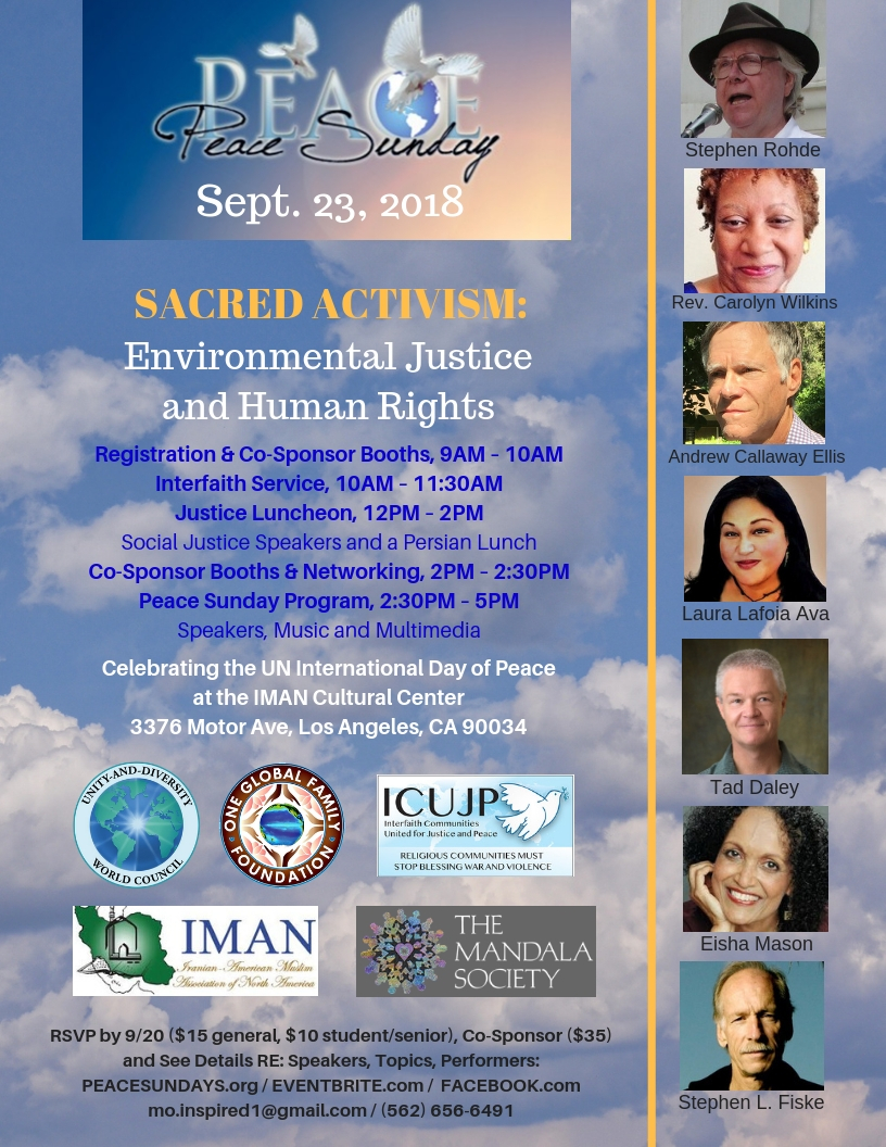 Peace Sunday 2018 with speakers