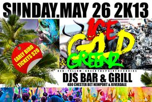 "WELCOME TO JOUVERT PAINT VS POWDER ""ICE GOLD AND GREENZ"""