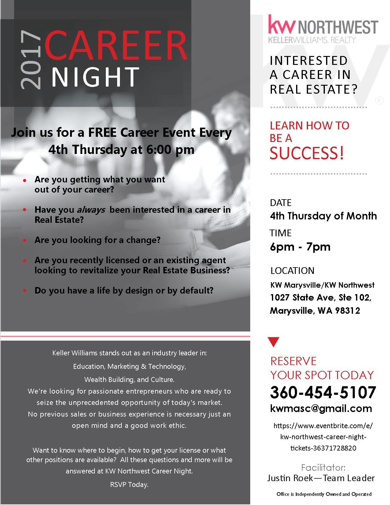 Career Night at KW Northwest