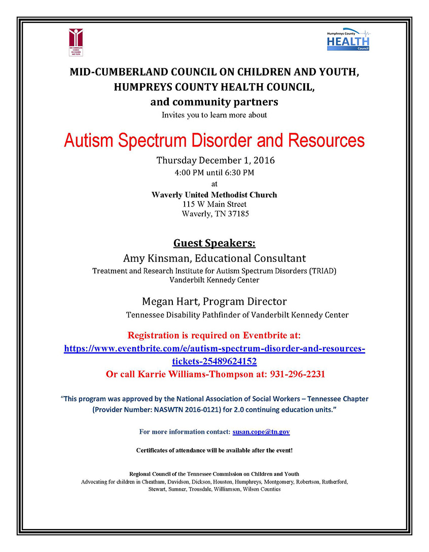 Autism training and resources