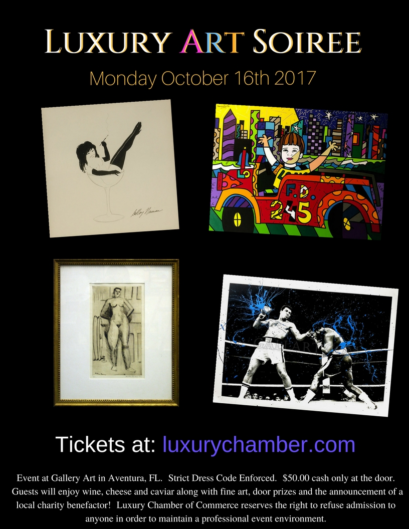 Luxury Art Soiree of South Florida October 2017