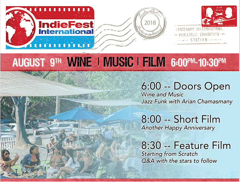 IndieFest International at Rosenthal Bar & Patio in Malibu August 9th
