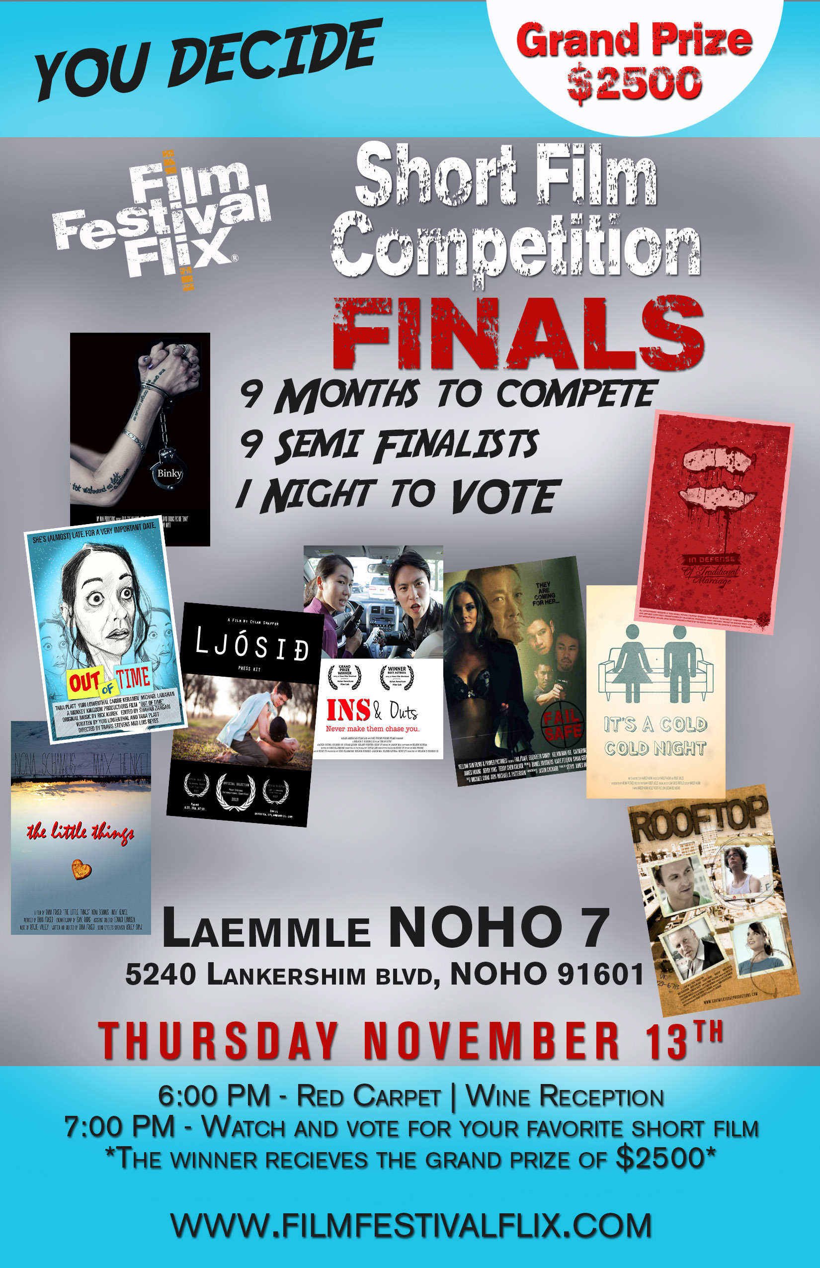 Details for the NOHO Short Film Competition Finals 2014