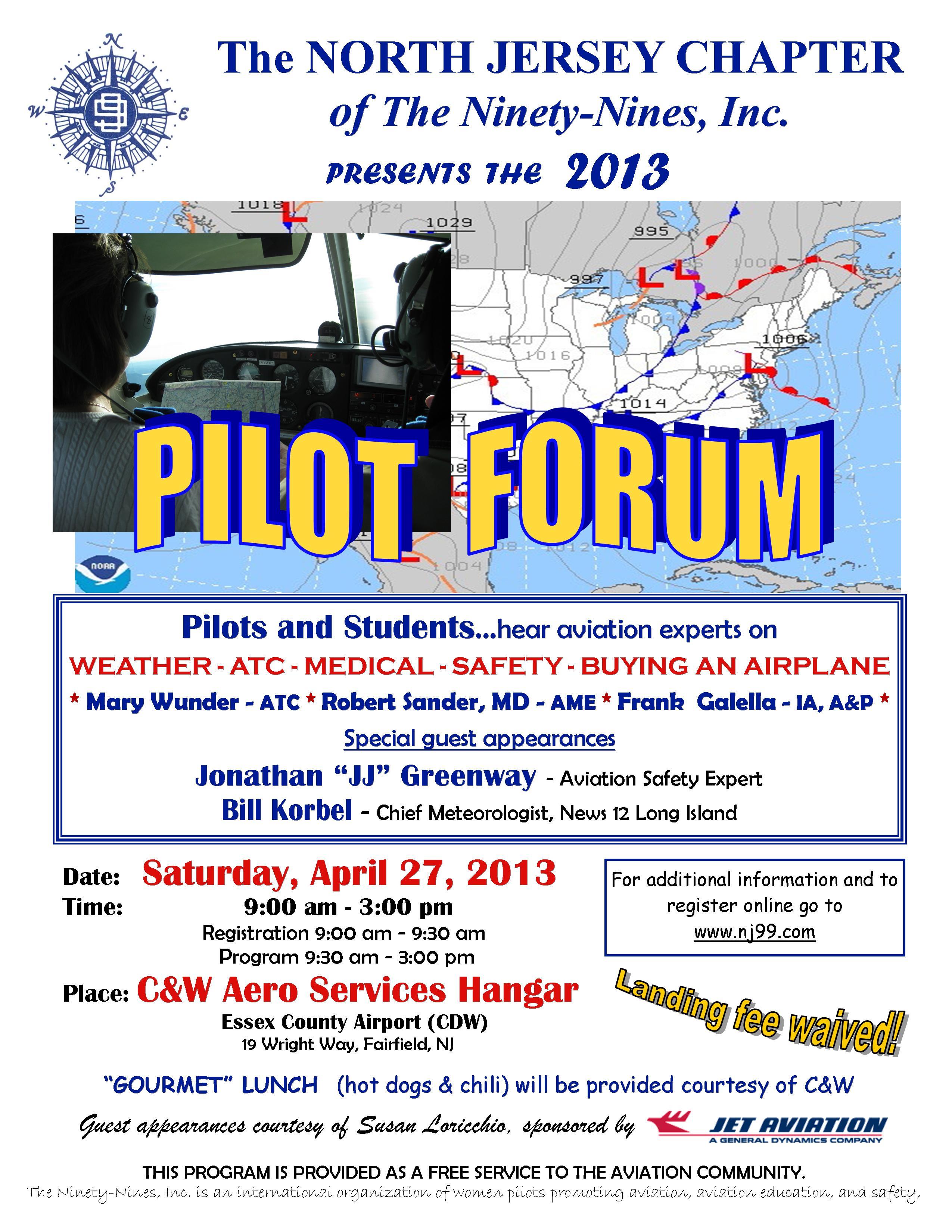 Pilot Forum Flyer