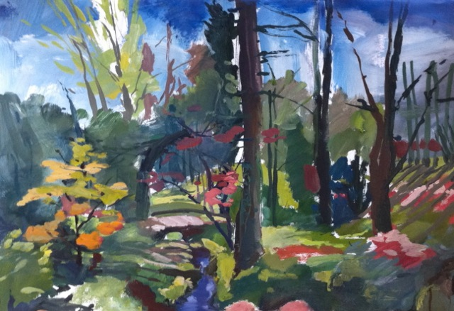 Mick's Wood by Karen Bowers, 2011, oil on paper, 110 x 90cm