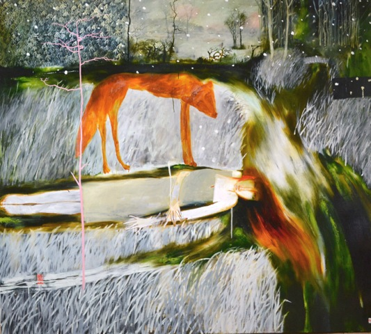 Southrop Ophelia by John Lendis, 2012, oil on linen, 180 x 200cm
