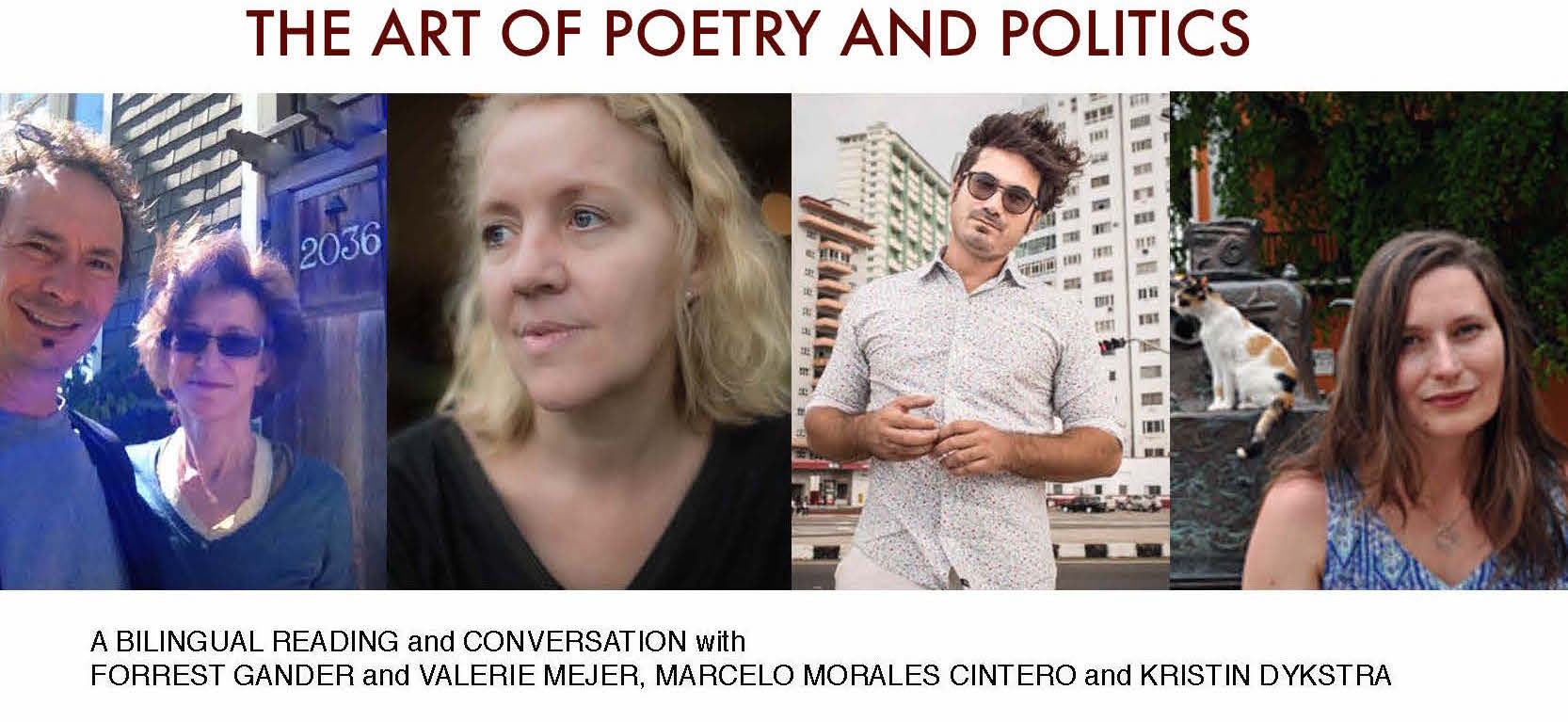 Flyer Art of Poetry and Politics