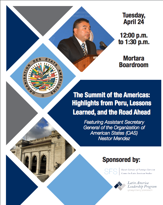Flyer for April 24 CLAS and OAS Event