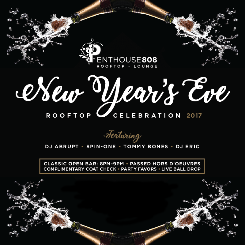 New Years Eve 2017 at Penthouse808 Ravel Rooftop in Long Island City, Queens, NY