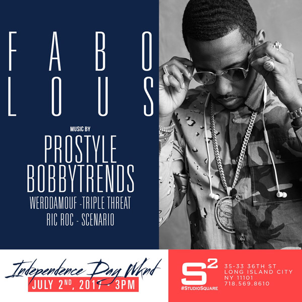 Fabolous, Prostyle, Bobby Trends at Studio Square Garden in Queens
