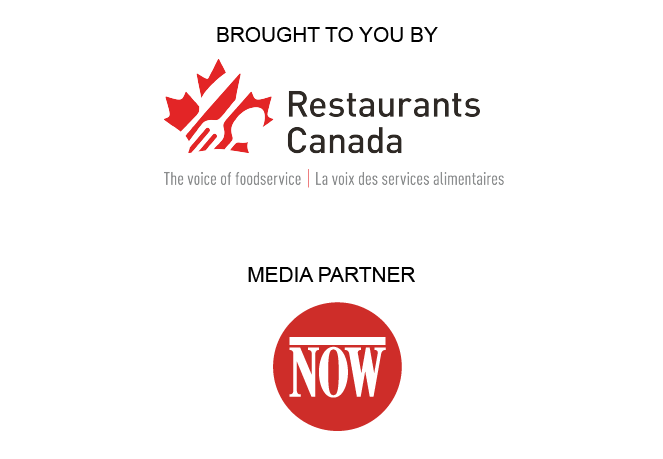 NOW magazine logo and Restaurants Canada logo