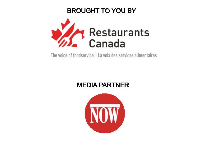 NOW magazine logo and Restaurants Canada logo