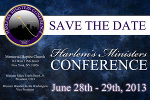 The 2013 Harlem's Ministers Conference