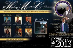 The 2013 Harlem's Ministers Conference: DEVELOPING GREAT LEADERS...