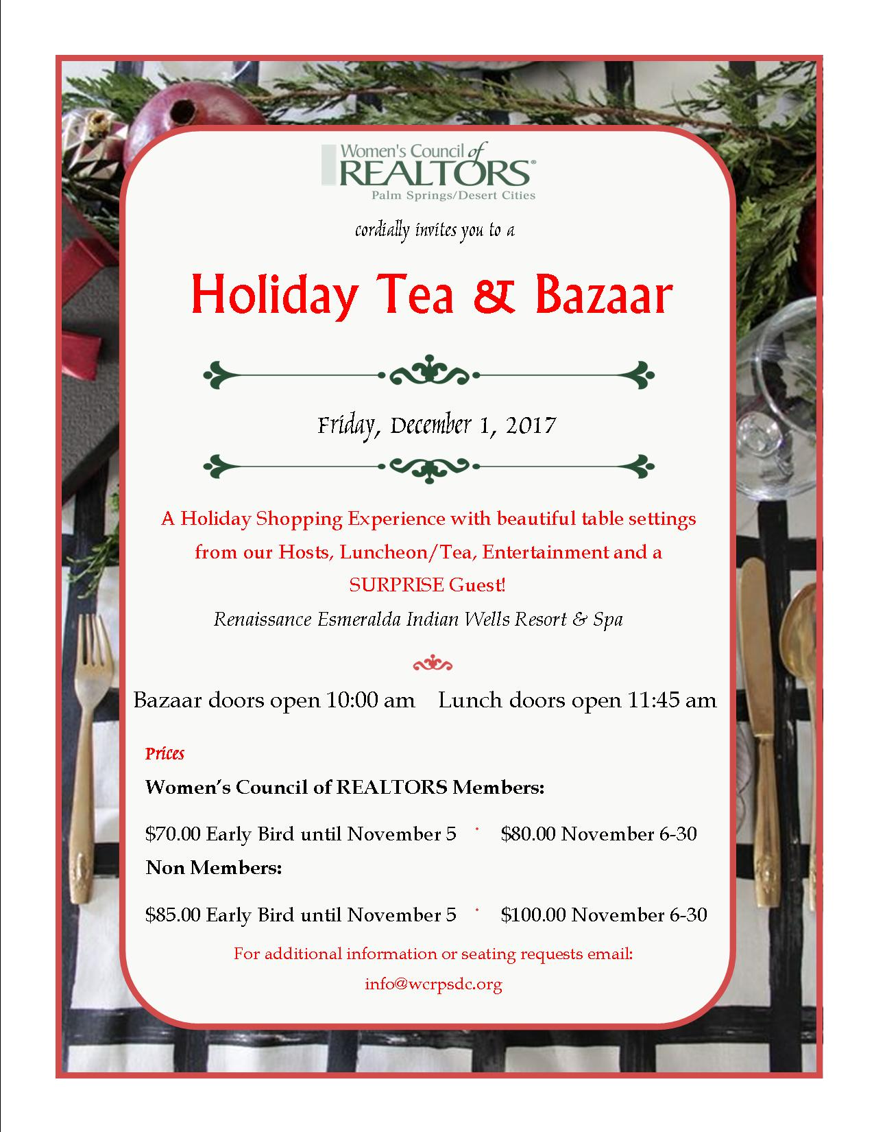 Holiday Tea 2017