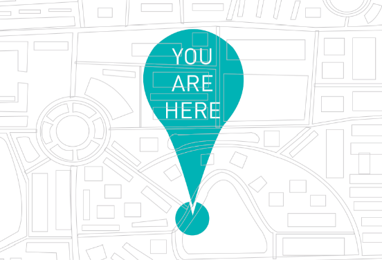 You Are Here Graphic