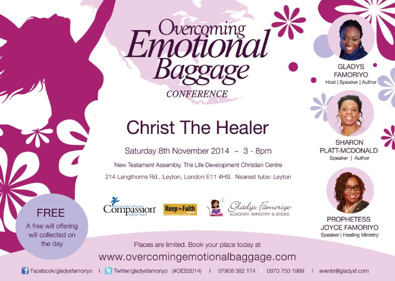 Overcoming Emotional Baggage Womens conference 2014 - Gladys Famoriyo