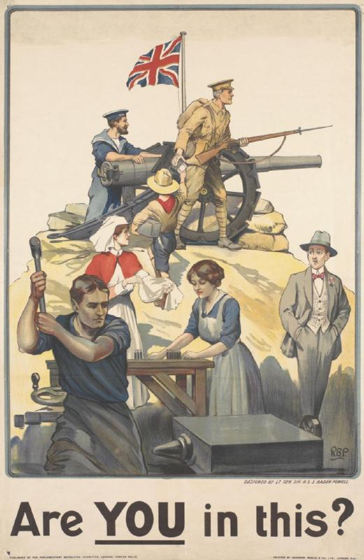 World War One recruitment poster, IWM.