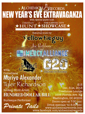 Alchemical Records New Years Eve Event Poster
