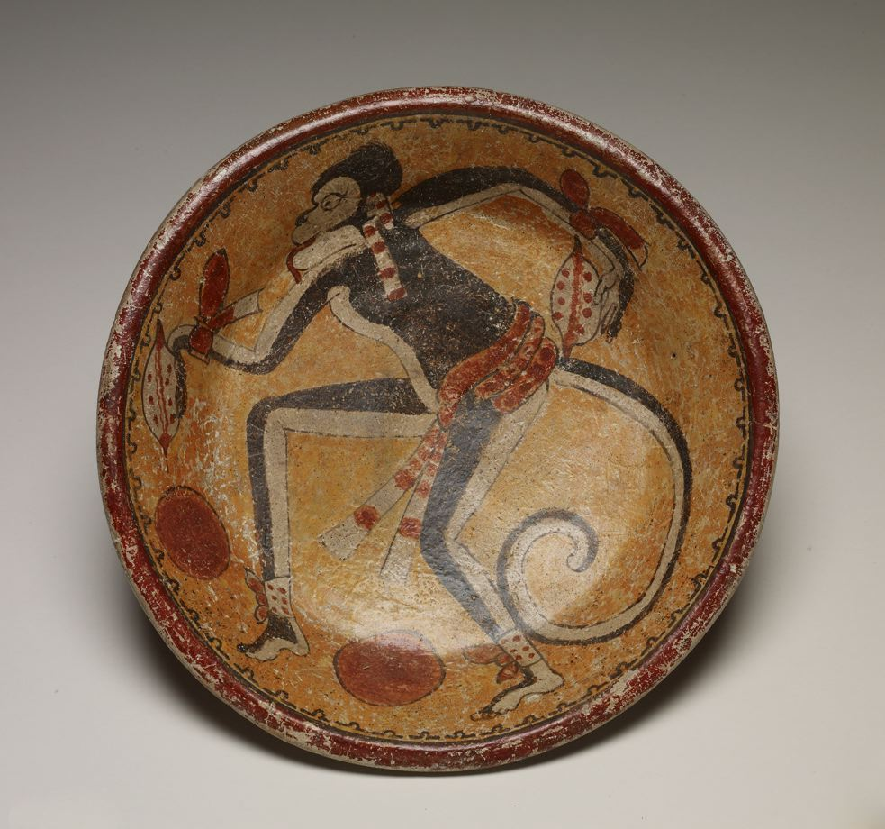 Plate with Monkey