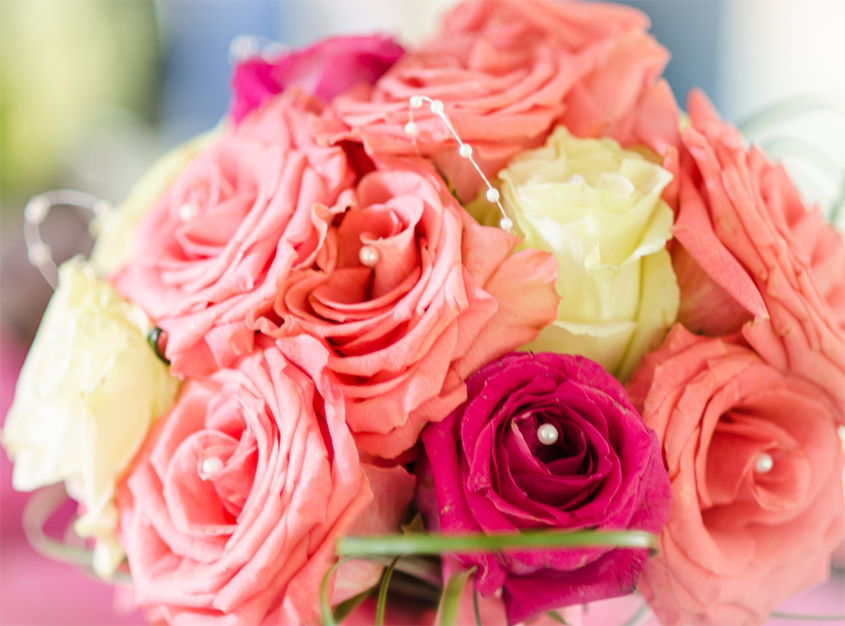 Beautiful Pink Flower Bouquet Arrangment