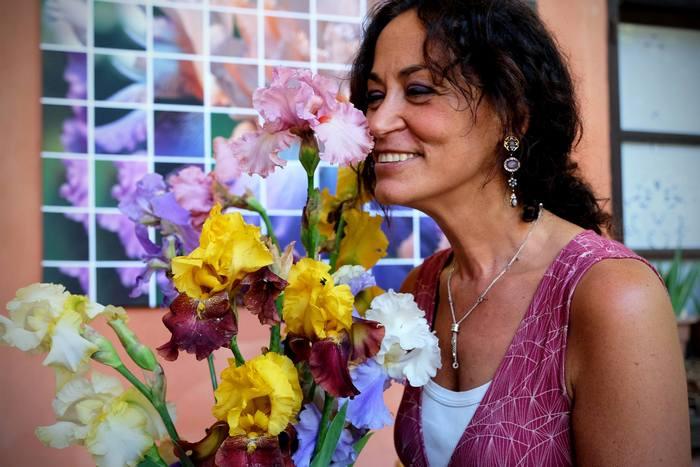 """Cristina Mostosi, Il giardino """"Le Iris di Trebecco"""""""