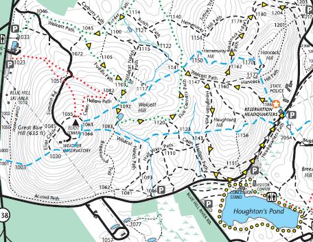 Blue Hills Trail Map