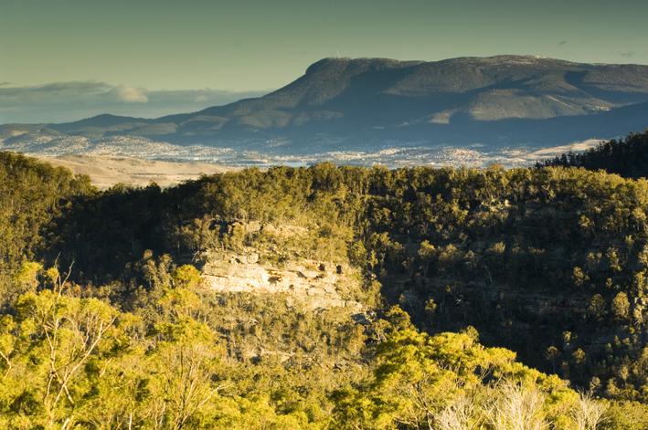 Flat Rock Reserve with Wllington Range backdrop