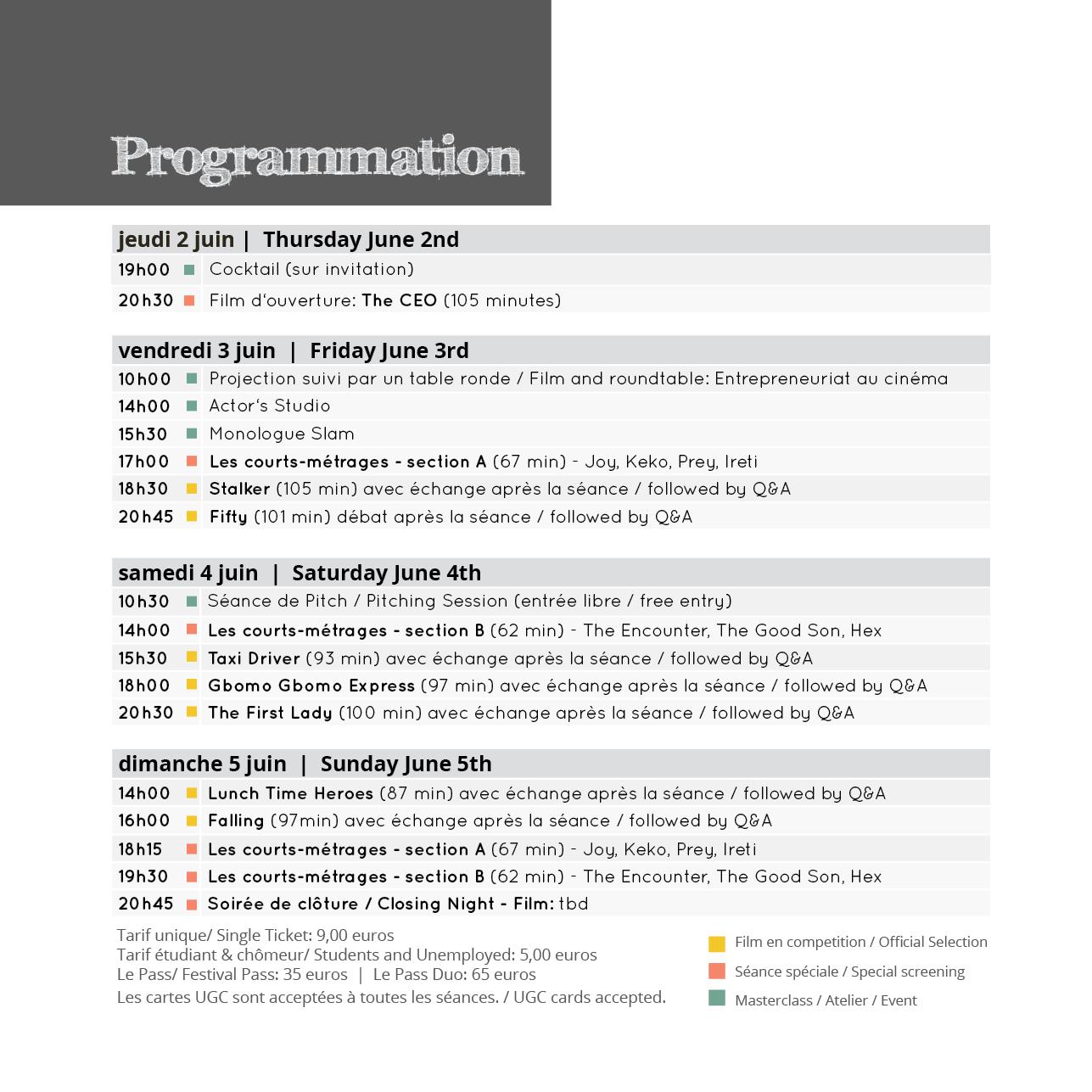 Programmation NWP 2016