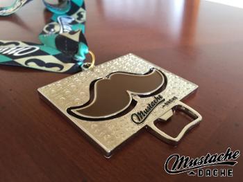 mustache dache medal