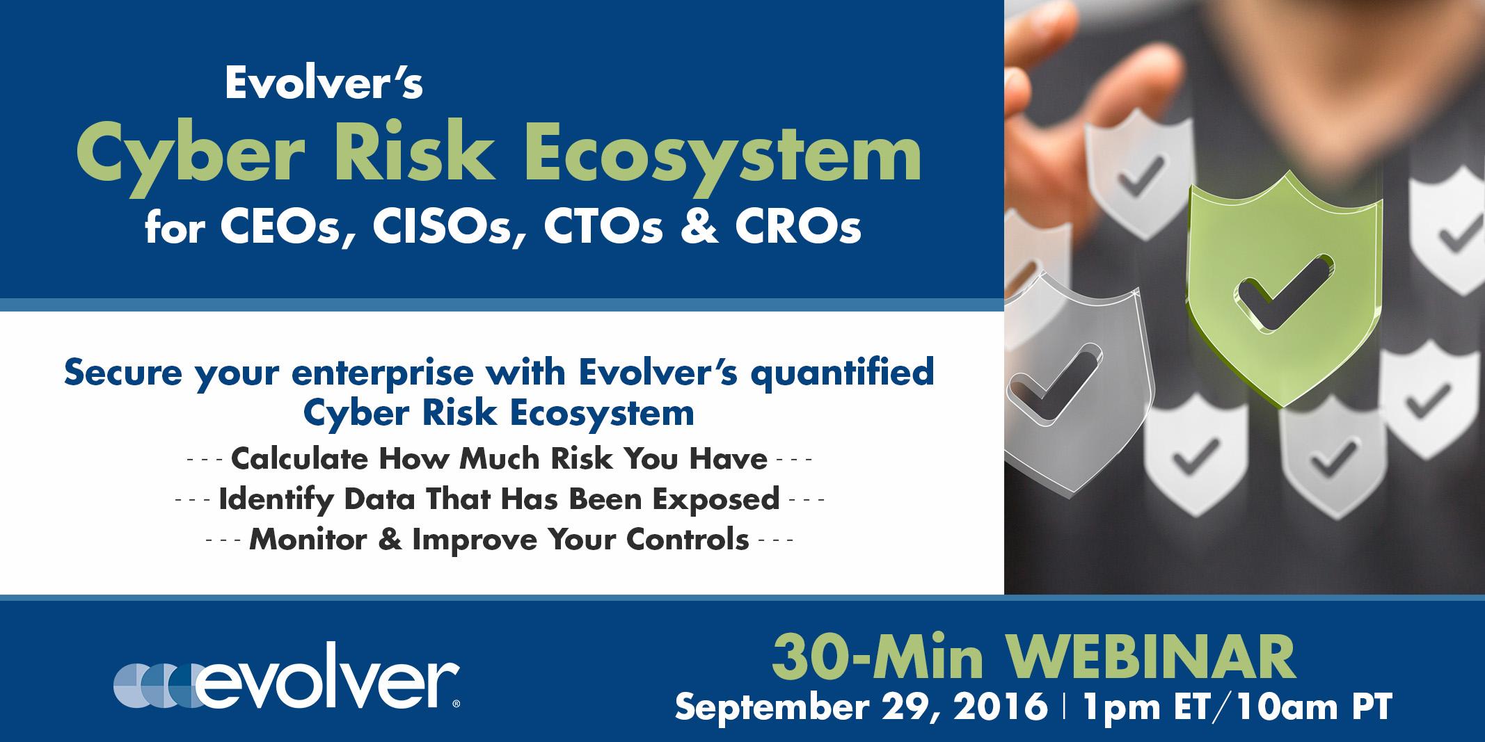 Evolver Cyber Risk Ecosystem Webinar