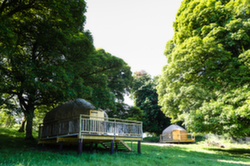 Yurts in the magical wood at Rock Farm Slane