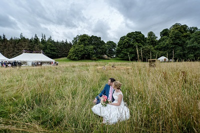 Glamp site wedding