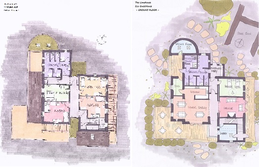 Strawbale Building - Eco Guesthouse The Limehouse drawings