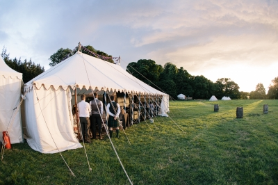 Wedding marquee at Rock Farm Slane