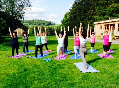 Yoga in the serenity of the countryside
