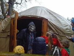 Yurt halloween