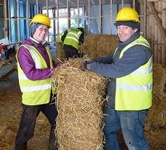 Working with Strawbales at Rock Farm Slane