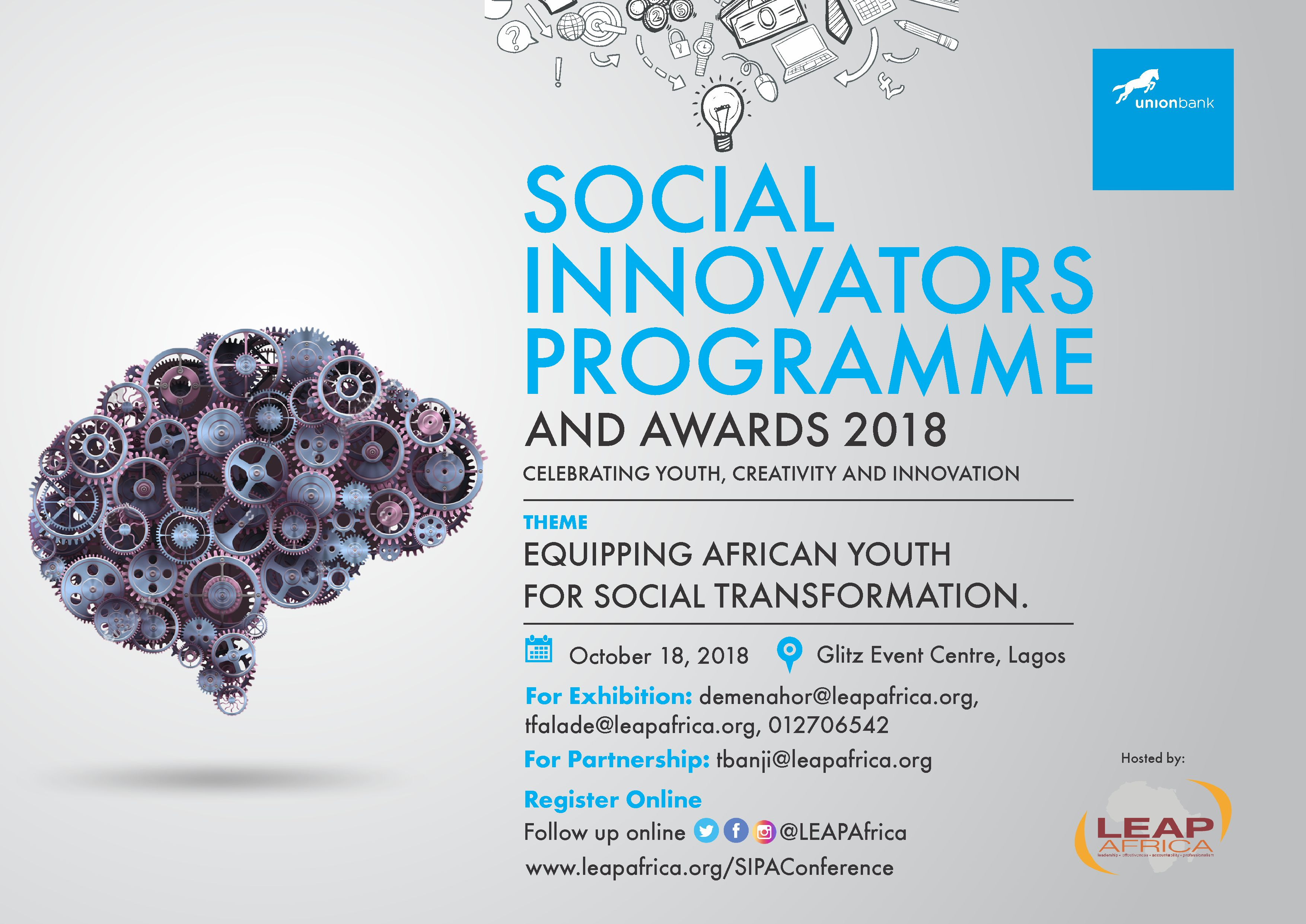 Social Innovators' Programme & Awards 2018 (information image)