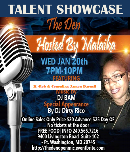Talent Showcase for Jan 20th
