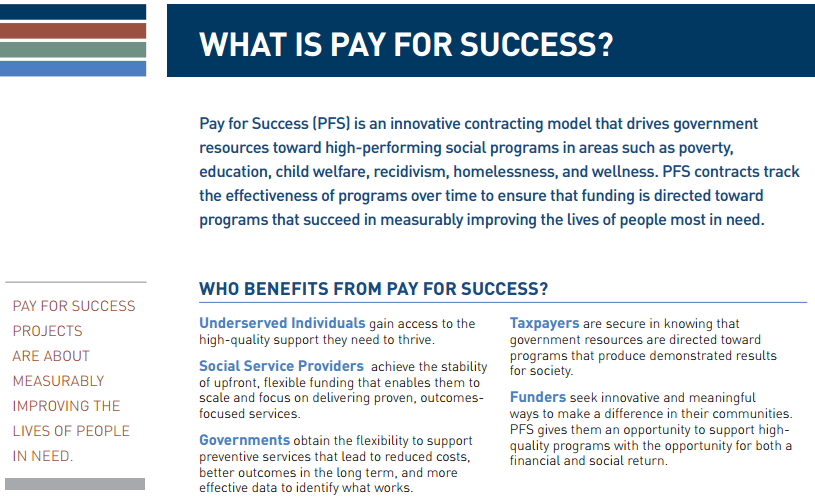Pay for Success Mechanism