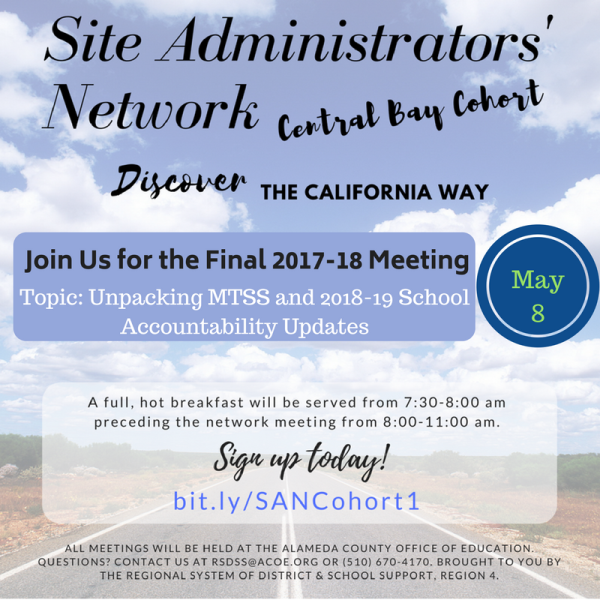 Join Us for the Final SAN Meeting on May 8!