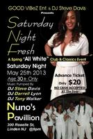 Steve Davis All white Saturday Night