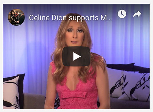 Celine Dion supports The Mark Wood Music Foundation
