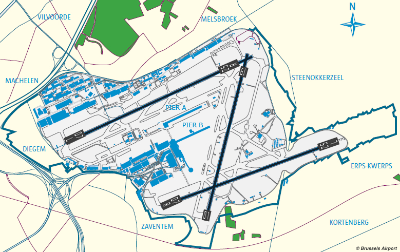 Brussels Airport Tour Expat Club - Brussels airport map