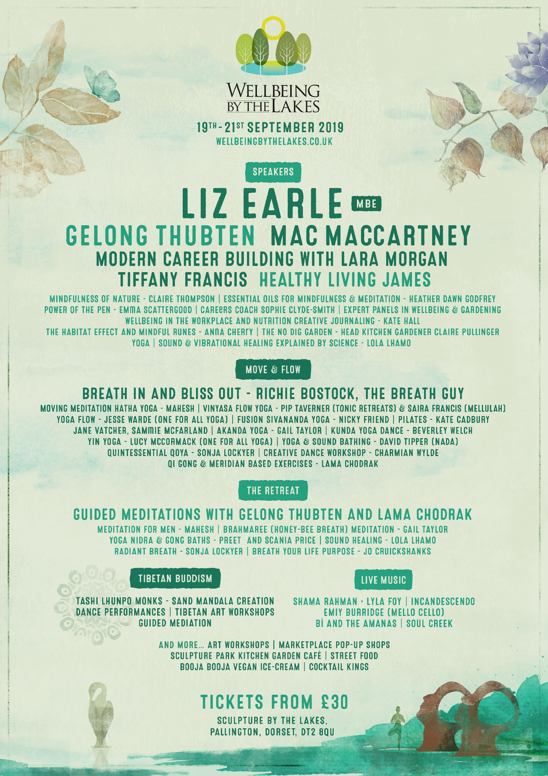 Line up poster 2019