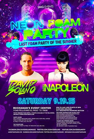 neon foam party with david solano amp audrey napolean el